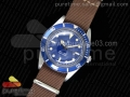 Vintage Blue Submariner No Date SS Blue Dial on Brown Nylon Strap A2836