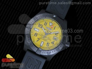 Avenger II Seawolf H-Maker PVD Yellow Dial on Black Rubber Strap A2824
