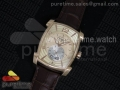 Kalpa Grande RG TF Cream Textured Dial on Brown Leather Strap A331