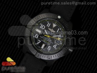 Avenger II Seawolf PVD Black Dial Yellow Markers on Black Rubber Strap A2836