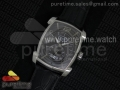 Kalpa Grande SS Black Textured Dial on Black Leather Strap A331