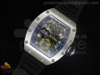 Richard Mille RM036 SS/Blue on Rubber Strap A23J