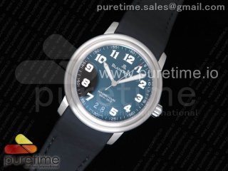 LEMAN Big Date SS 1:1 Best Edition Black Dial on Black Leather Strap A6950