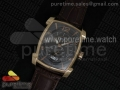 Kalpa Grande RG TF Black Textured Dial on Brown Leather Strap A331