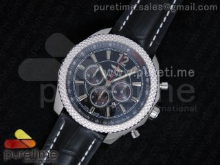 Bentley Barnato Chrono SS Black Dial on Black Leather Strap A7750