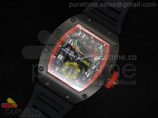 Richard Mille RM036 PVD/Red on Rubber Strap A23J